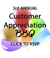 3rd annual customer appreciation BBQ